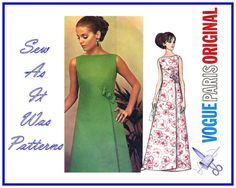 1960s Uncut Vogue Paris Original 2043 by SewAsItWasPatterns