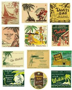 All Things Hawaii,Tropical,Ocean, Sea and such Hawaiian Art, Vintage Hawaiian, Hawaiian Designs, Hawaiian Decor, Tiki Art, Tiki Tiki, Bars Tiki, Luau, Tiki Hawaii