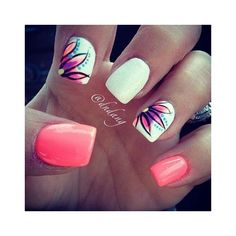 Nail art d'été d'inspiration indienne Nail Art by Nails Ink ❤ liked on Polyvore featuring beauty products, nail care and nail treatments