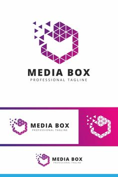 Media Box M Pixel Letter Logo: multifunctional logo that can be used in technological companies, in companies and applications for software development, Data Logo, Letter Logo, Software Development, Multifunctional, Logo Templates, Lettering, Collection, Boxing, Drawing Letters