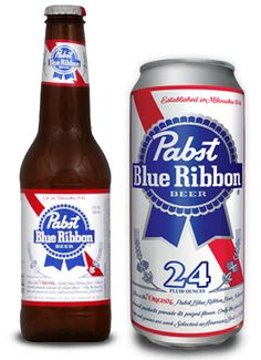 Pabst Blue Ribbon Beer -  a great go-too for when times are tough and your wallet is bare.