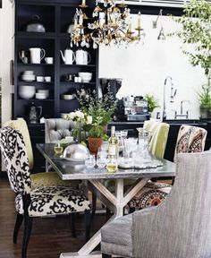 loving the mismatched chairs...tyler florence hb kitchen of the year