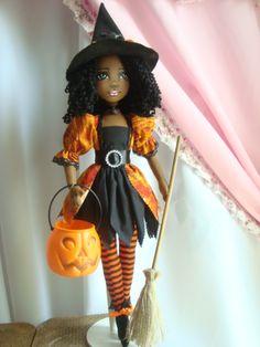 Bonecas  negras de pano Colecão bruxinhas Soraia Flores