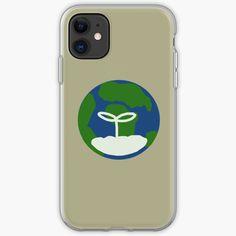 'Earth' iPhone Case by JibbJab Semi Transparent, Transparent Stickers, Iphone Wallet, Iphone 11, Glossier Stickers, Iphone Case Covers, Cover Design, Simple Designs, My Arts