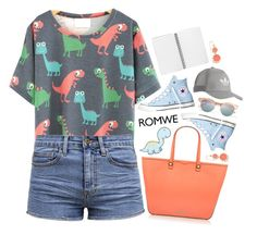 """""""Dinosaur T-shirt"""" by becky12 ❤ liked on Polyvore featuring TWINTIP, Rebecca Minkoff, Converse, Le Specs, adidas Originals and Kate Spade"""