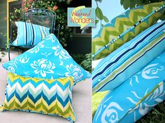 TUT Weekend Wonders with Fabric.com: Outdoor Piped Pillow Trio | Sew4Home