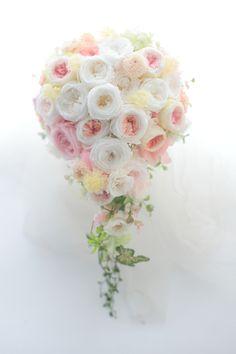 3シェアできるセミキャスケードブーケ 新潟まで : 一会 ウエディングの花