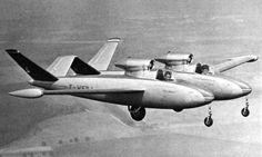 Le Fouga CM.88-R Gémeaux. When strange aircraft are built, France will build them.