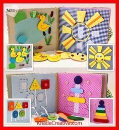 KhadeCreativa.com Quiet Book Busy Book Eco friendly educational Toddler door MiniMoms source by :http://pinterest.com/pin/541628292663228041/