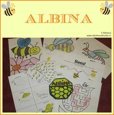 albina - activitati pentru copii Diagram, Bullet Journal, Bees, Homeschooling, Art, Full Bed Loft, Insects, Art Background, Kunst