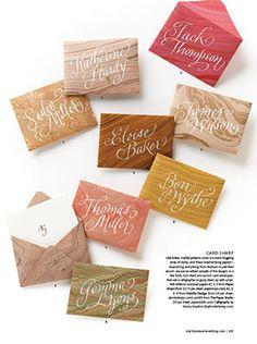 calligraphy place cards Download Martha Stewart Weddings Magazine Free!