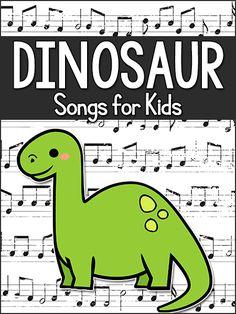 Dinosaur songs for kids: preschool, pre-k, kindergarten. Use while teaching a Dinosaur theme. Dinosaur Songs For Preschool, Preschool Music, Preschool Themes, Preschool Lessons, Preschool Classroom, Preschool Learning, Teaching, Dinosaur Activities For Preschool, Dinosaurs For Toddlers
