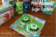 Keeping it Simple: Monsters University Sugar Cookies.