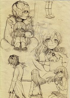 Okay this is from the horror RPG game called Ib, but I put it on my drawing board because those are some pretty cool sketched Rpg Maker, Cool Sketches, Cool Drawings, Ib And Garry, Manga Anime, Anime Art, Creepy Games, Ib Game, Mad Father