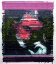 Available for sale from Wallplay, Anton Perich, Tesla 53 × 45 in Glitch Art, Anton, My Arts, Memories, Contemporary, Artwork, Painting, Inspiration, Memoirs