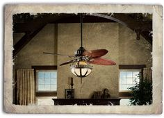 Steampunk home ceiling fan