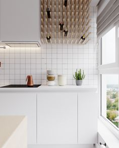Interior design of apartment in Minsk at the joint of Scandinavian style and restrained minimalism.