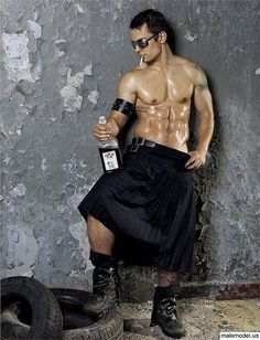 The only thing better than a man in a kilt is a shirtless man in a kilt.