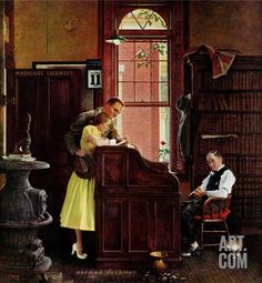 Looking At Life Through My Bifocals: A ROCKWELL TUESDAY -- THE MARRIAGE LICENSE (1955)