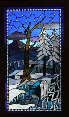 Winter Stained glass