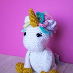 Free Crochet Unicorn Pattern - The Friendly Red Fox