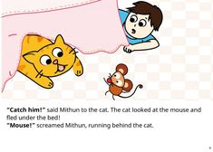 A family works together to get a mouse out of the house! Read fairy tales, bedtime stories, short stories for kids, comics and poems for kids at Storyberries. English Stories For Kids, Short Stories For Kids, English Worksheets For Kids, English Story, Kids Pages, Kids Story Books, House Mouse, Word Families, Bedtime Stories