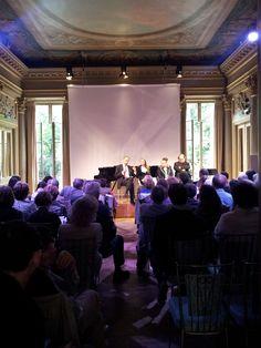 Alberto Saravalle, Presidente del Festival Dino Ciani, durante il suo intervento a #Parigi.