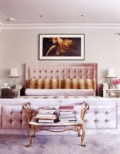 hands down my dream bedroom #pink #tufted #leopard
