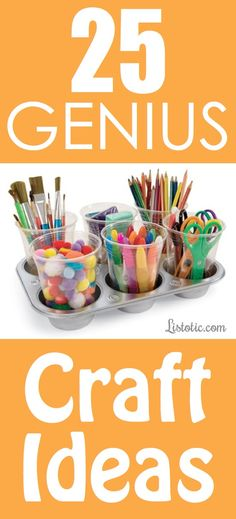 25 Genius Craft Ideas Great for kindergarden  children or you can put anything in it .