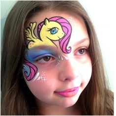 My Little Pony, Fluttershy Face Paint By Zoe