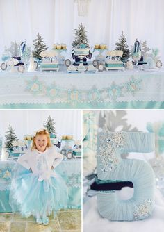 {Sparkly, Snowy  Fantastic!} Frozen Birthday Party // Hostess with the Mostess® by Juliana Brutsche