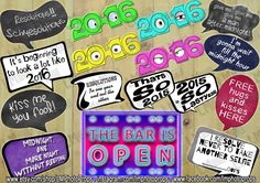 New Years Eve Props, New Years Party Photobooth Props, NYE Photo Booth, Photobooth Props, Holiday Decorations INSTANT DOWNLOAD diy Printable by LMPhotoProps on Etsy #nye #newyear #partyprops