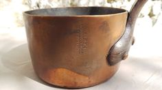 """Dehillerin Copper Pan 2.6mm Saute Copper Pot Unrestored Sold As Found Unrefurbished Well Used 12cm 4 3/4"""" Across 1.2 Kilos 2lbs 6ozs by CopperAntiquity on Etsy"""