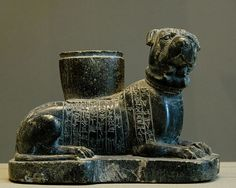 Votive dog statuette dedicated by a physician from Lagash to the goddess Ninisina, 'for the life of Sumu-El', king of Larsa (1894–1866 BC). Louvre Museum
