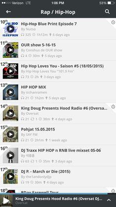 We're up to #14, the hood has spoken! Mixcloud  https://www.mixcloud.com/oversat/king-doug-presents-hood-radio-6-oversat-dj-podcast/