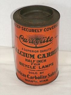 RARE - Carbolite Calcium Carbide For Bicycle Lamps - Duluth, Minnesota - Antique in Collectibles, Antiques | eBay