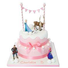 Pretty Pink Frozen Cake