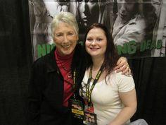 Judith O'Dea (Barbra) from Night of the Living Dead, with Karen
