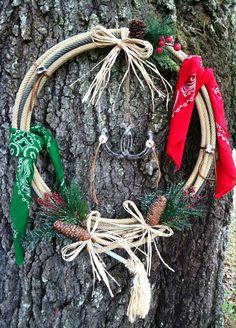 Cowboy rope wreath
