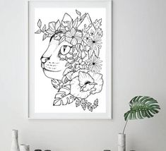 Digital Files - You can download these handmade design instantly after purchased   Files included: 300dpi pdf, black-white. Instant download and ready for print Premium Hand Drawn art drawn by Noi Drews  SIZE : 8x 10 , 8.5x 11  Picture frame not included!   Hey There, welcome to my shop! My name is Coloring Books, Coloring Pages, Native American Tattoos, Floral Printables, Poster Prints, Art Prints, Handmade Design, Print Tattoos, Art Drawings
