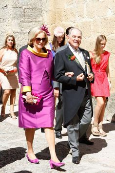 Count Rudolf zu Schoenburg-Glauchau, Princess Marie Louise of Prussia attends the wedding of their daughter Sophie of Schönburg-Gauchau to Carles Andreu in Ronda, near Marbella, Andalusia on 15 Sep 2013