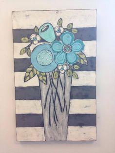 Custom art by Mary DeMaagd – Dwellings Folk Art Flowers, Abstract Flowers, Flower Art, Zentangle, Paintings I Love, Motif Floral, Collage, Art Plastique, Custom Art