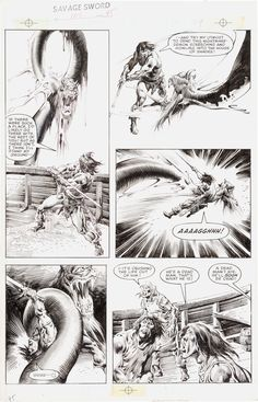 """John Buscema Savage Sword of Conan #101 """"The Siren"""" Page 