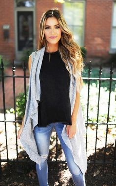 Heather Grey Soft Sleeveless Cardi - Dottie Couture Boutique