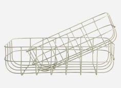 Sp0372 - Kurv, Simply, grå, sæt á 2 str., S.: 16x24 cm, h.: 8 cm, L.: 20x28 cm, h.: 8 cm