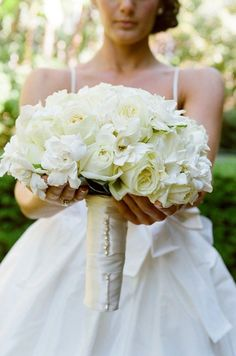 gardenia and white rose bouquet