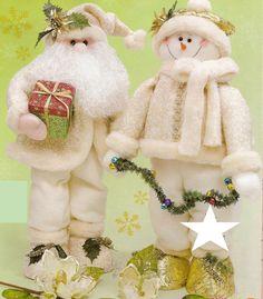 Patrón pareja blanca navidad