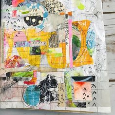 Salvaged Art Journal with Roben-Marie Smith #robenmarie #artjournaling #artjournal #mixedmedia #salvagedjournal