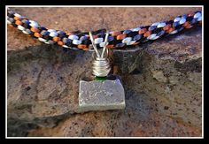 Rock Climber Necklace - Climbing Stopper Necklace Made with Kumihimo Braid. $45.00, via Etsy.