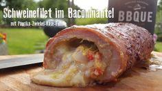 Gefülltes Schweinefilet im Baconmantel